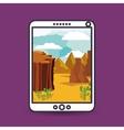 landscape for wallpaper smartphone design vector image vector image