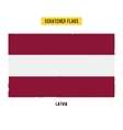 Latvian grunge flag with little scratches on vector image vector image