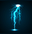 lightning concept background realistic style vector image
