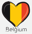 love Belgium flag vector image