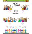 math task for preschool children vector image vector image
