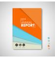 minimalist brochure book flyer design template vector image vector image