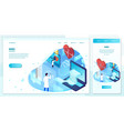 online heart health hologram with doctor vector image