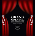 poster with curtains and the words grand opening vector image