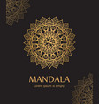 poster with gold ornament mandala based on indian vector image vector image