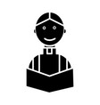priest at wedding church religion christian ico vector image