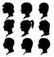 profiles of women and men vector image vector image