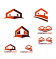 Real Estate logo and web icon vector image vector image
