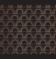 rose gold foil arcs seamless background vector image vector image