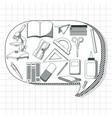 school utensils cartoons vector image