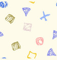 seamless hand drawn pattern with abstract shapes vector image vector image