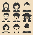 set of different male and female icons in vector image vector image