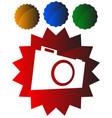 small photo camera icon hobby photography concept vector image vector image