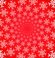 Snow vortex on red background vector image vector image