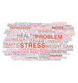 Stress symptoms vector image