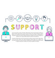 support of customers and clients poster vector image
