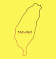 taiwan map with shadow effect vector image vector image