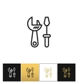 Tools logo or industrial utilities icon vector image vector image