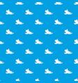 tourist shoe pattern seamless blue vector image vector image