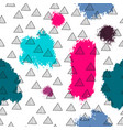 triangles and abstract color spots seamless vector image