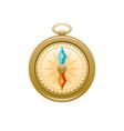 vintage compass icon 3d cartoon navigation vector image