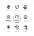 Vintage icons set with image slider menu vector image