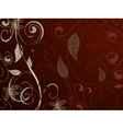 vintage pattern red brown vector image