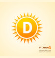 vitamin d sun label card background concept vector image vector image