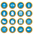 waste and garbage icons blue circle set vector image vector image