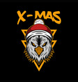x mas eagle vector image vector image