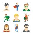 Superhero icon flat vector image