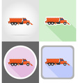 truck flat icons 16 vector image