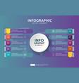 10 steps business infographic timeline design vector image