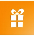 3d Gift Box on bright orange background vector image vector image