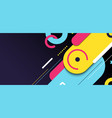 abstract banner web template geometric elements vector image vector image