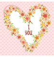 Abstract bright flowers in heart shape stylized vector image vector image