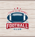 american football or rugby club badge vector image