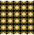 black seamless pattern with golden elements vector image vector image