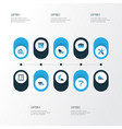 building colorful icons set collection of vector image vector image