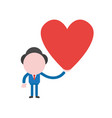 businessman holding heart vector image vector image