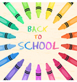 Crayons Circle Back to School Frame Greeting Card vector image vector image