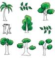 Doodle of tree set art vector image vector image