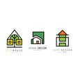 eco house home design green logo design templates vector image