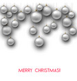 elegant shiny christmas background with white vector image vector image