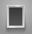 empty picture frame on wall template vector image vector image