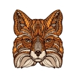 Ethnic ornamented fox Hand drawn vector image vector image