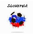 Flag of Slovenia as an abstract soccer ball vector image vector image