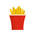 french fries icon flat style vector image