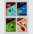 graphic design sport concept sports equipment vector image vector image