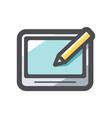 graphic tablet device icon cartoon vector image vector image